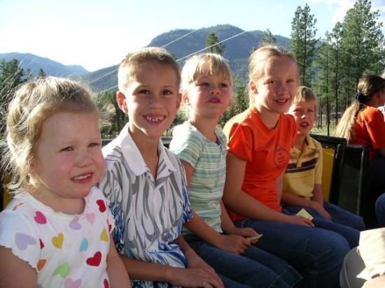 Durango, CO, United States Hillenburg Grandkids on the Bar D Train
