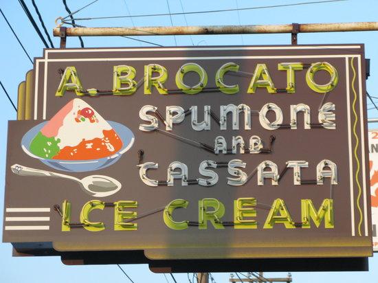 Angelo Brocato Ice Cream: Brocato's, The Sign