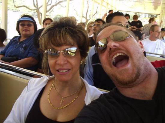 Escondido, CA: US ON THE TRAIN RIDE AROUND THE PARK  !!