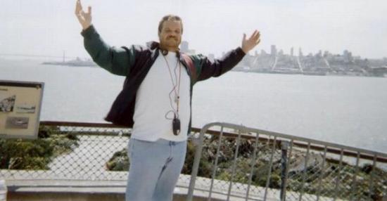 Alcatraz: ME ON THE ISLAND !!  THE WORLD IS MINE POSE !!