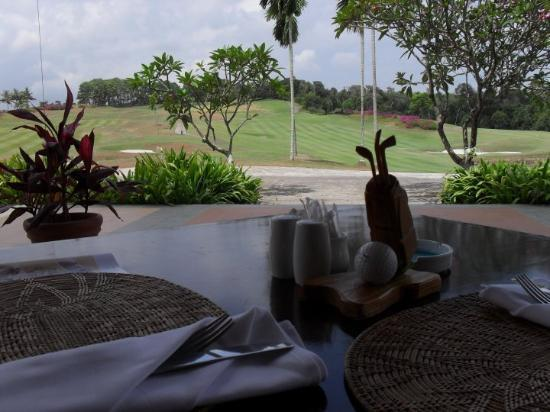 Bintan Island, Indonesia: View from our luncheon table at the Bintan Lagoon Golf Club...