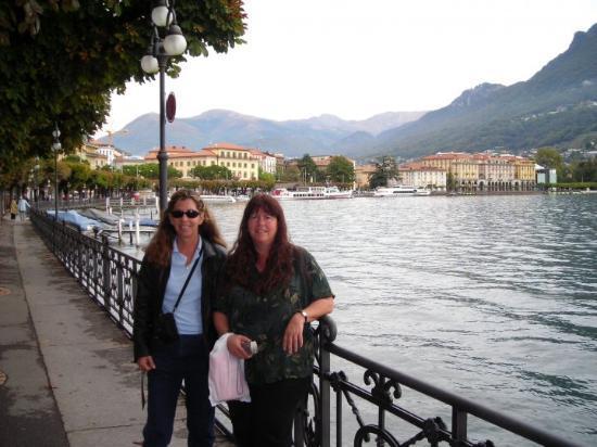 Lugano, Switzerland Me and my sister, Shel