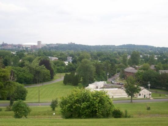 Park view overlooking Syracuse