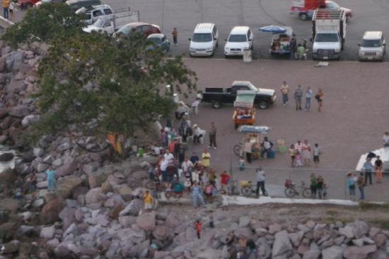 Mazatlan, Mexico: The people rushing to the port to wave goodbye to the departing ships! Very cool.