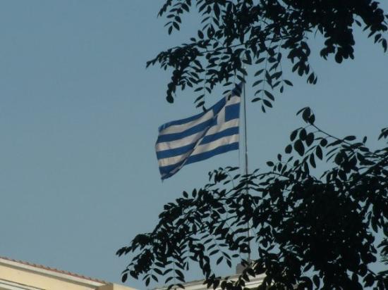 Thessaloniki, Hellas: Greek Flag