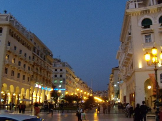 Thessaloniki, Hellas: Central Park at nigth!!