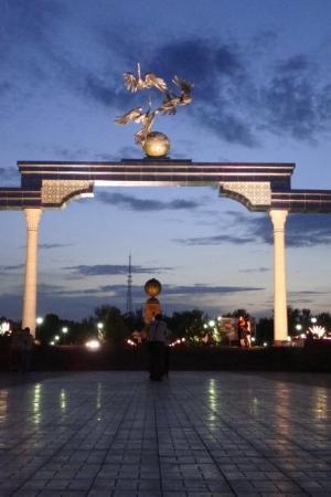 Place de l'Indépendance : Independence Square in Tashkent.