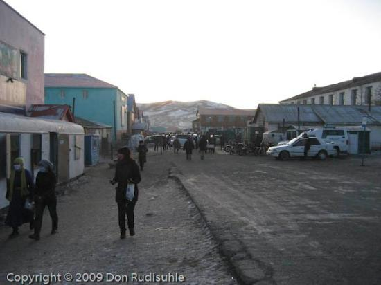 Arvayheer, Mongolei: The market district in Arvaikheer.