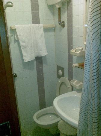 Hotel Fiorella: panoramica del bagno