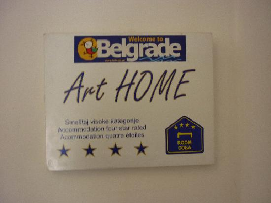 Art Home Bed and Breakfast : Certificate on 4-star rating