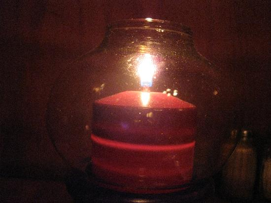 Petite Europe : Candles at dinner
