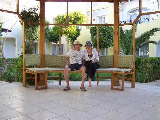 Sierra Sharm El Sheikh: Kim and Barry in Sierra garden.
