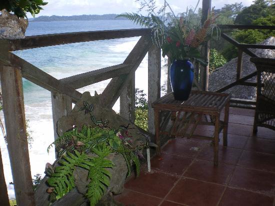 Bluff Beach, Panama: terrasse