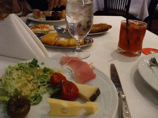 Fogo de Chao Brazilian Steakhouse: Some salad bar items, side dishes in background