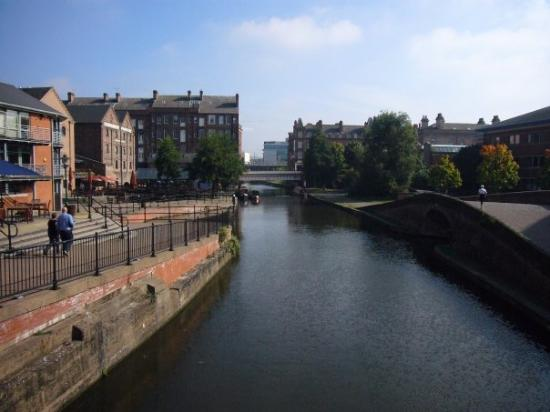 River Leen canal in Nottingham