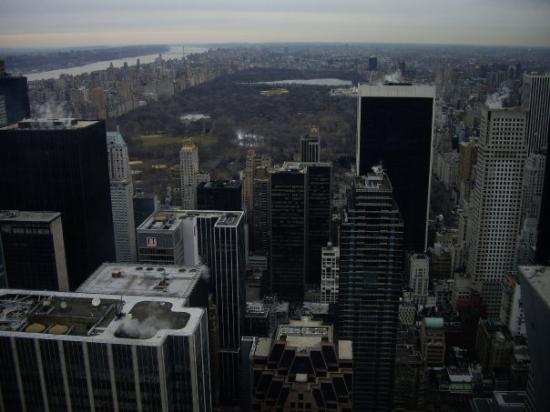 'Top of the rock' utsiktspost, Rockefeller New York: vista desde el Top of the Rock