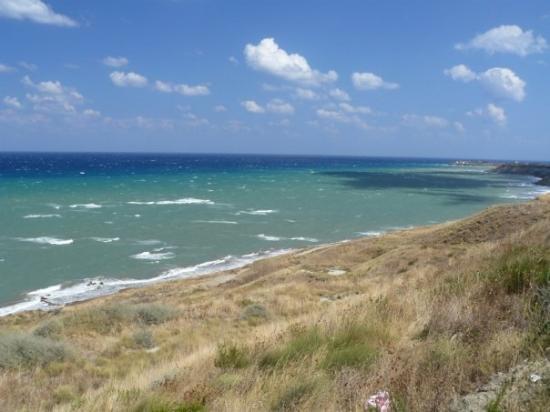 Isola di Capo Rizzuto, Italy: Capo Colonna, Calabria - východné pobrežie Kalábrie, kedysi oblasť malarických močiarov...dnes s