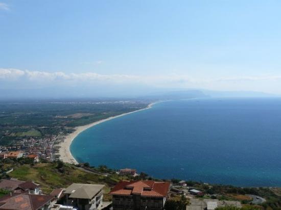 Nicotera, Calabria - pohľad snerom na Sicíliu