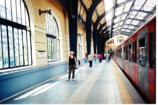 Piraeus, Greece: Estacion de tren en Pireus, Grecia
