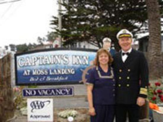 Captain's Inn at Moss Landing: Moss Landing is near Monterey California. The captain is  a friend to all the wildlife.The seals