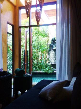 The Baray Villa: View from the lounge room
