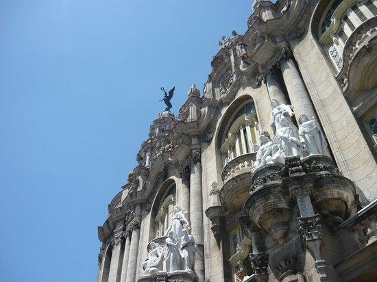 Havana, Cuba: details building near Capitolio