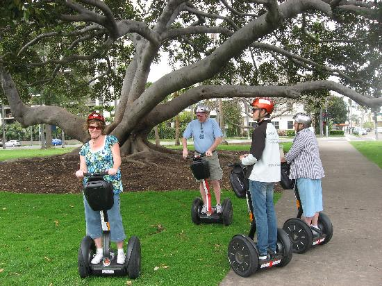 Another Side Of San Diego Tours: Segway group in Balboa Park. (and Justin rocks!)