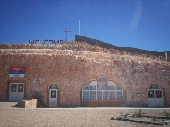 An underground Church at Coober Pedy, South Australia. Built this way because of the heat.