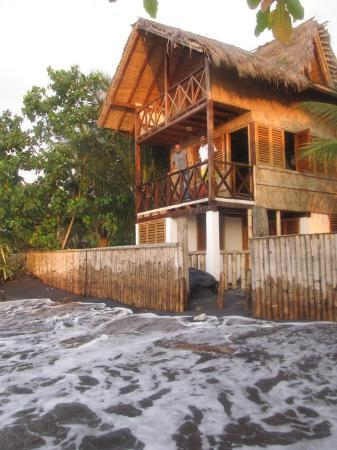 Mompiche, Ecuador: our $25.00 per night cabana on beach….