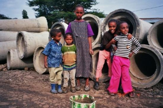 girls from the neighborhood in addis ababa - Picture of