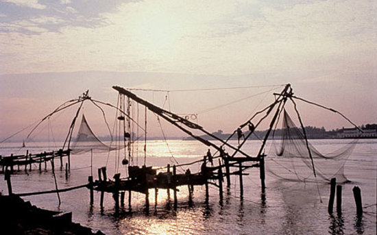 Kerala, India: Pesactori a Cochin
