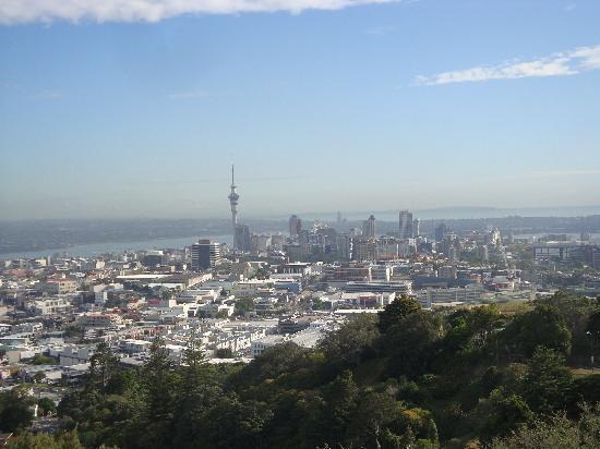 Eden Villa Bed & Breakfast: View of Auckland from the top of Mount Eden