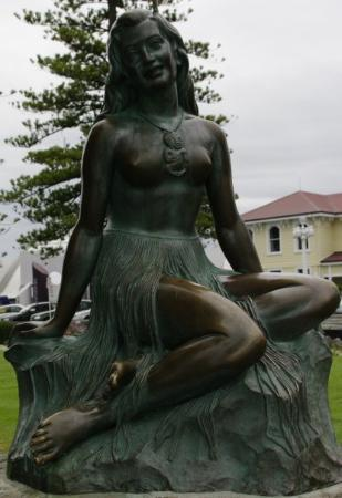 Napier, New Zealand: Pania on the Reef - legend tells (if I remember right) Pania wasn't allowed to wed her lover, so