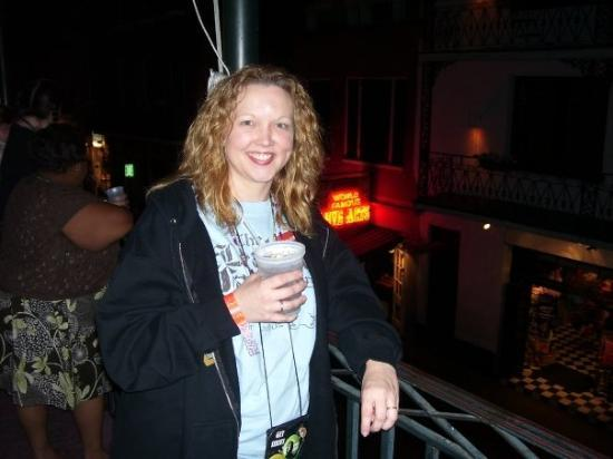 Bourbon Street: Enjoying a drink in New Orleans... or course
