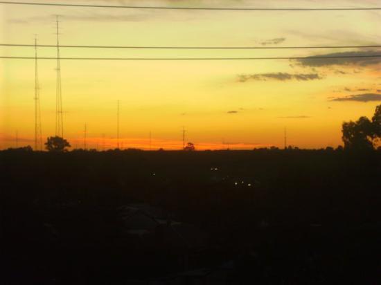 the sun set =) the dark stuff is waikerie xD