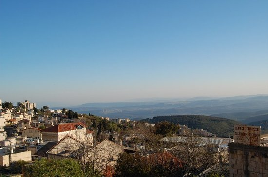Safed, İsrail: view of upper galillee from tzfat