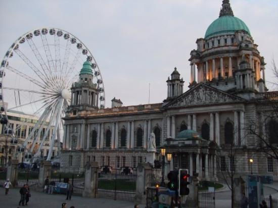 City Hall with the Belfast Wheel to the side