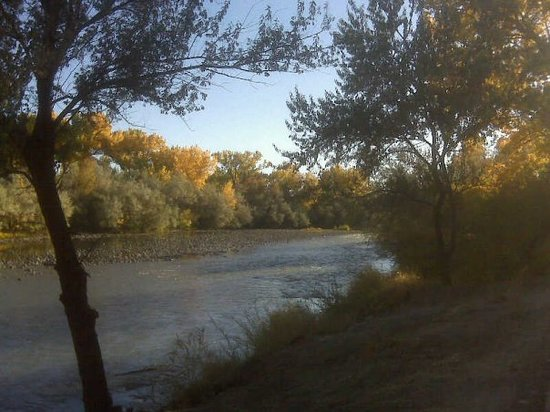 Aztec, NM: Colorful evening @ San Juan River