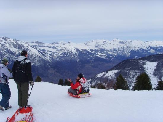 Verbier, Switzerland: Sledging piste