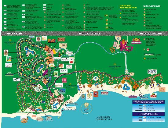 resort map - Picture of Luxury Bahia Principe Akumal, Akumal ...
