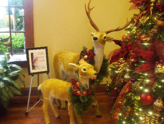 The Inn at Christmas Place: reindeer in lobby