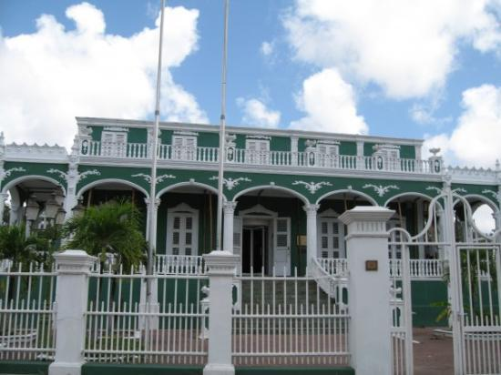"Willemstad, Curaçao: The ""Wedding Cake House"" in Curacao - named after it's unique architecture"