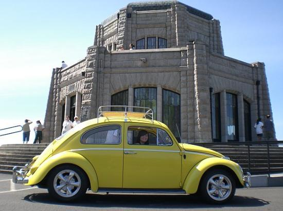 Corbett, OR: crusin' in a classic 1961 vw bug