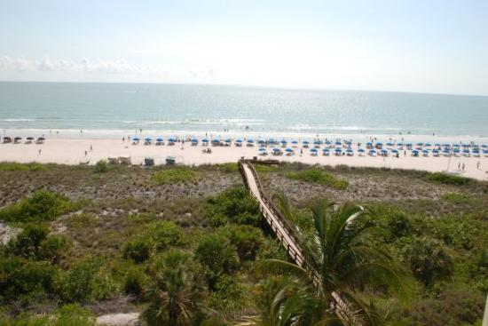 Marco Island, FL: Sendero del hotel a la playa.