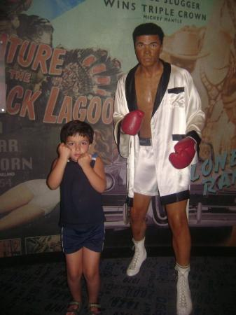 Madame Tussauds New York: Muhammed Ali and my brother.