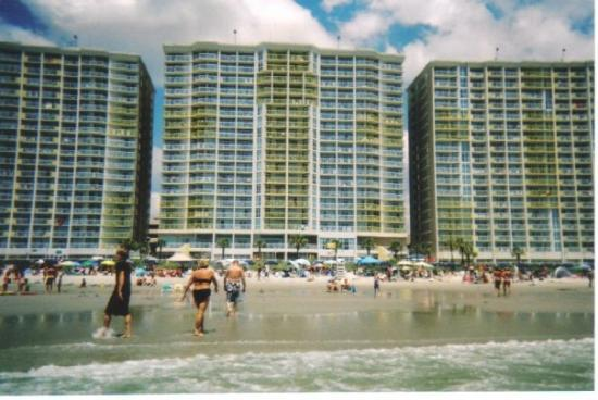 North Myrtle Beach, SC: Baywatch Towers (where we stayed- in the middle one)