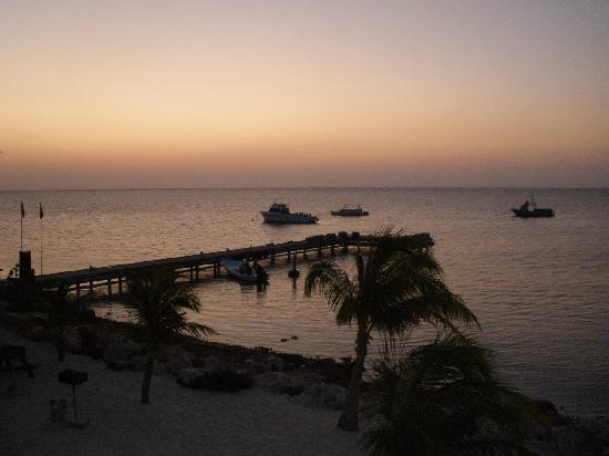 Compass Point Dive Resort: Sunrise view from our room.