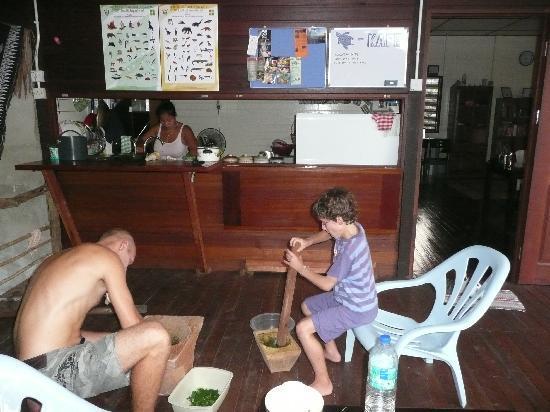 Kurakura Homestay: preparation du repas