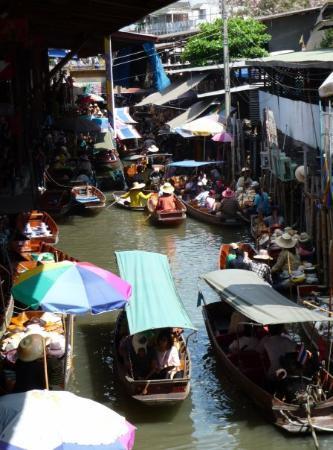 Damnoen Saduak Floating Market: Drijvende markt in Damnoem Saduak
