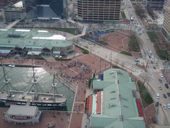 Baltimore, MD: Looking down at the Inner Harbor